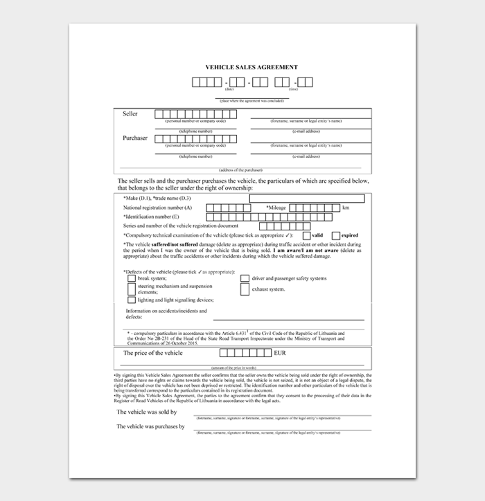 Car Sale Contract #02