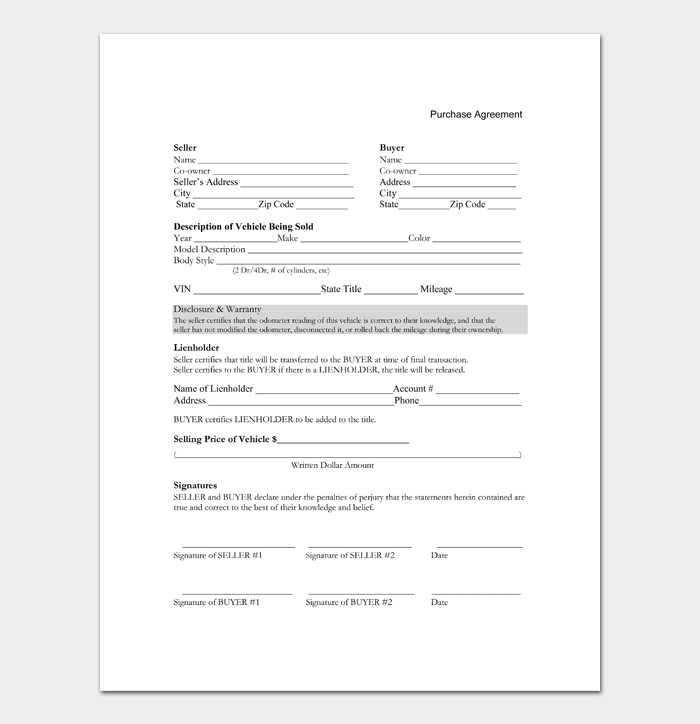 Car Sale Contract #23