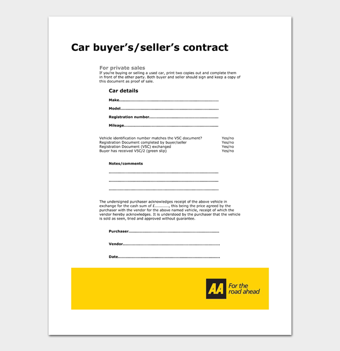 Car Sale Contract #24