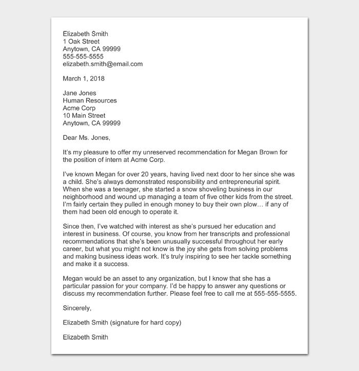Character Witness Letter #06