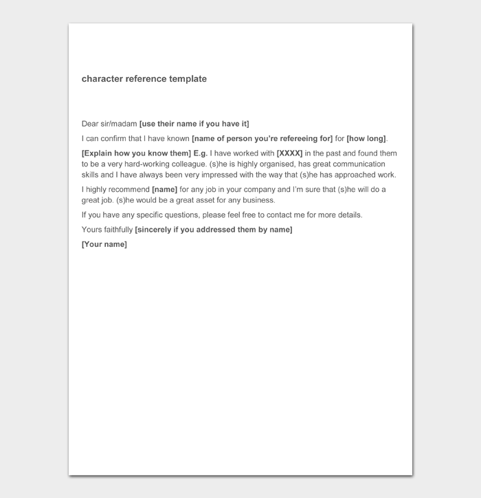 Character Witness Letter #08