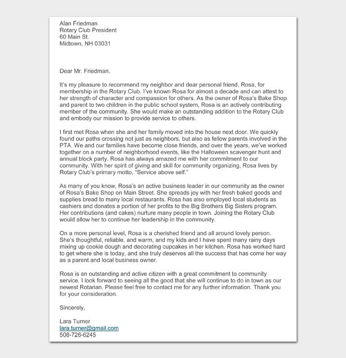 Character Witness Letter #09