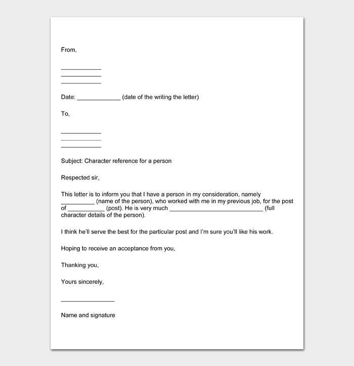 Character Witness Letter #17