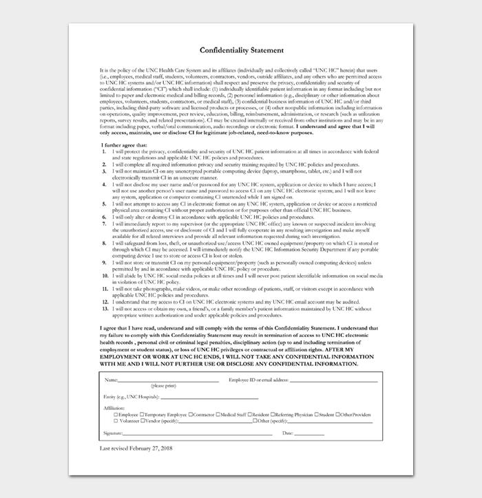 Confidentiality Statement #02