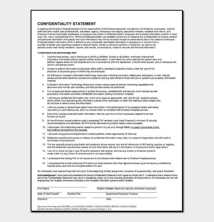 Confidentiality Statement #03