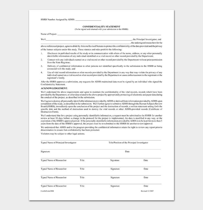 Confidentiality Statement #04