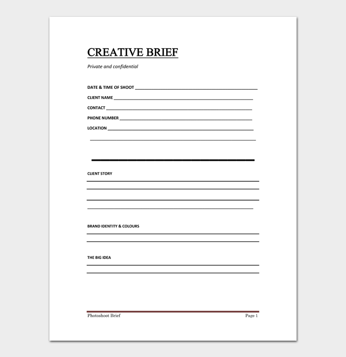 Creative Brief Template #03