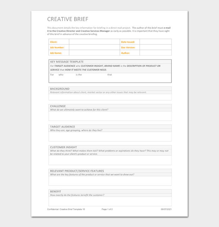 Creative Brief Template #04
