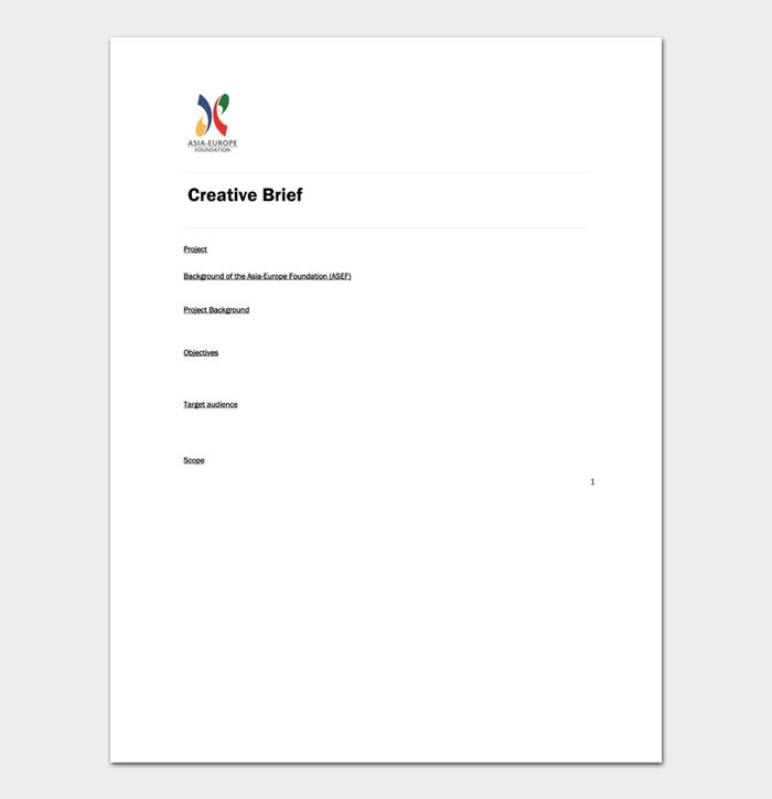 Creative Brief Template #06