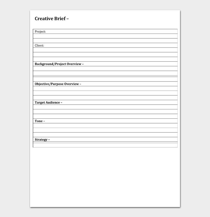 Creative Brief Template #10