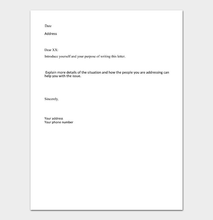Formal Business Letter Format #02