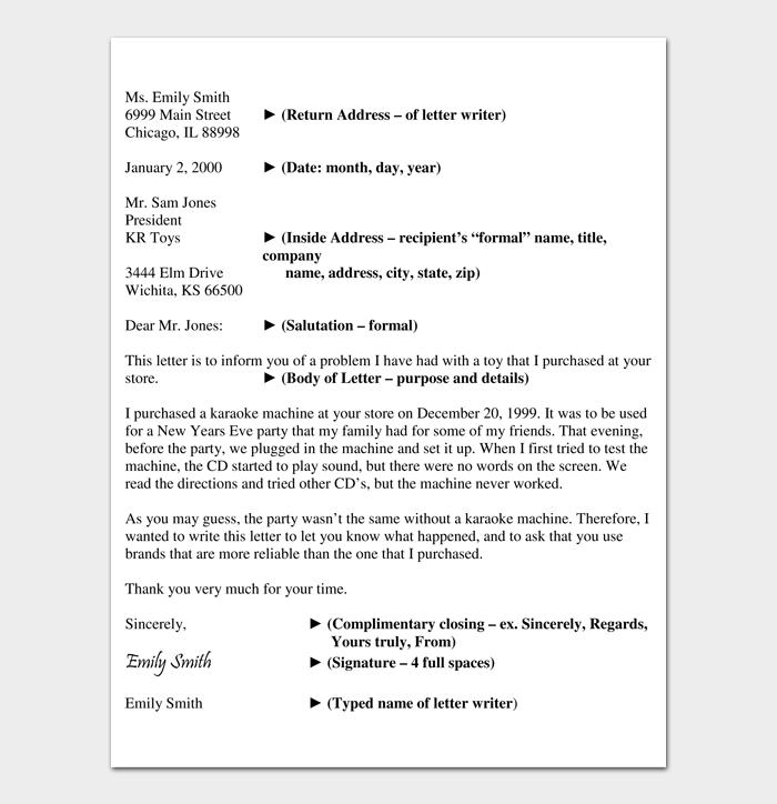 Formal Business Letter Format #05