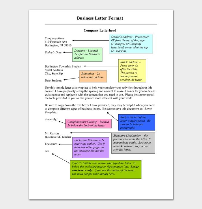 Formal Business Letter Format #06