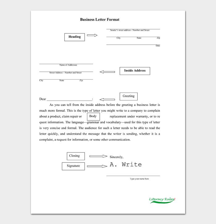 Formal Business Letter Format #07