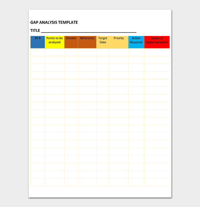 GAP Analysis Template #03