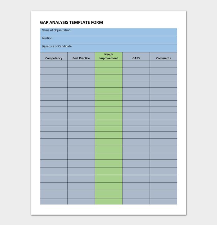 GAP Analysis Template #05