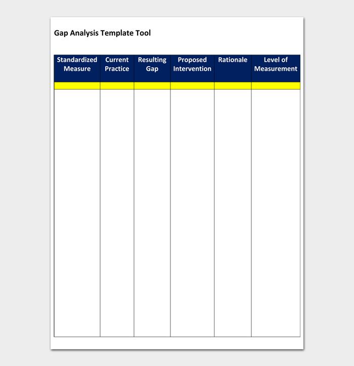 Gap Analysis Template Tool