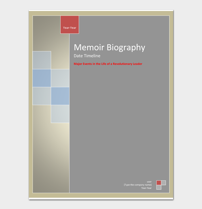 Memoir Biography