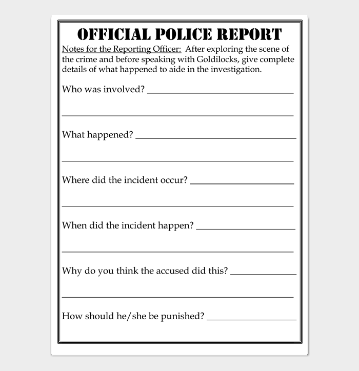 OFFICIAL POLICE REPORT