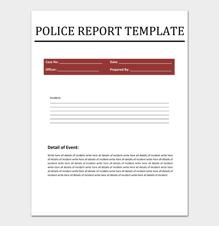 Police Report #02
