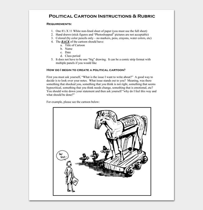Political Cartoon Instructions & Rubric