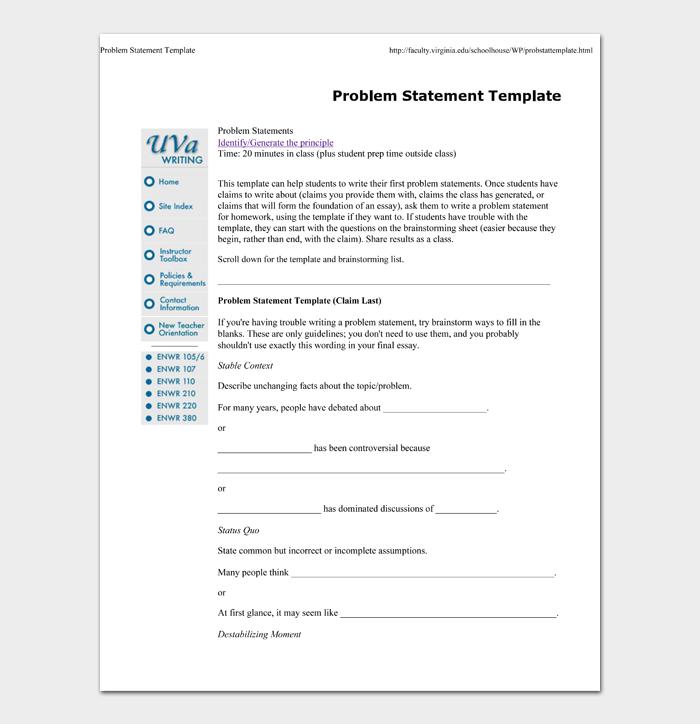 Problem Statement Template #02