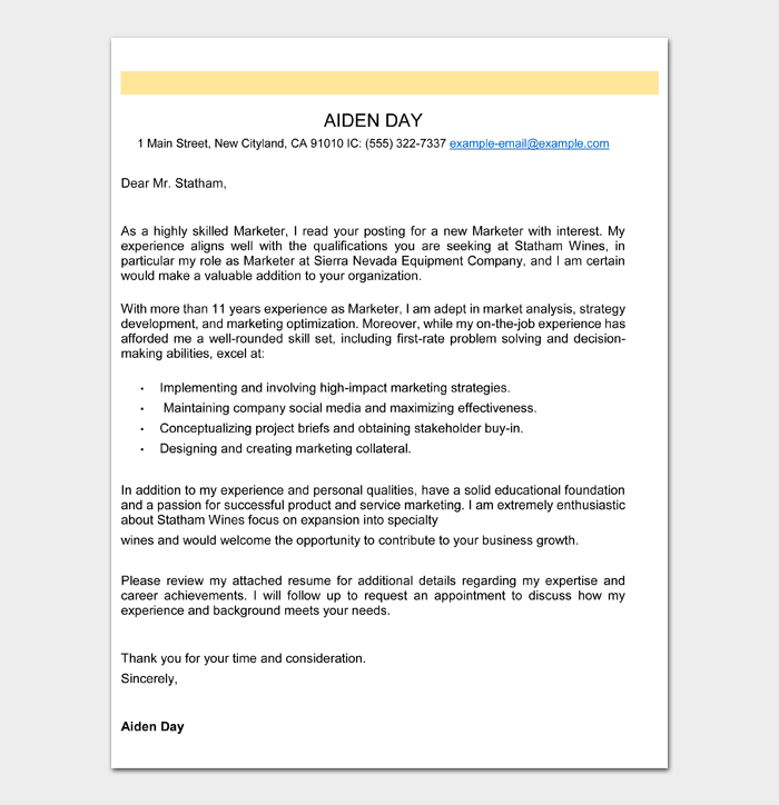 Professional Email Example #06
