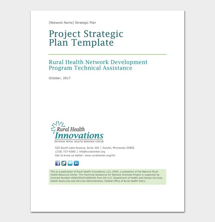 Project Strategic Plan Template