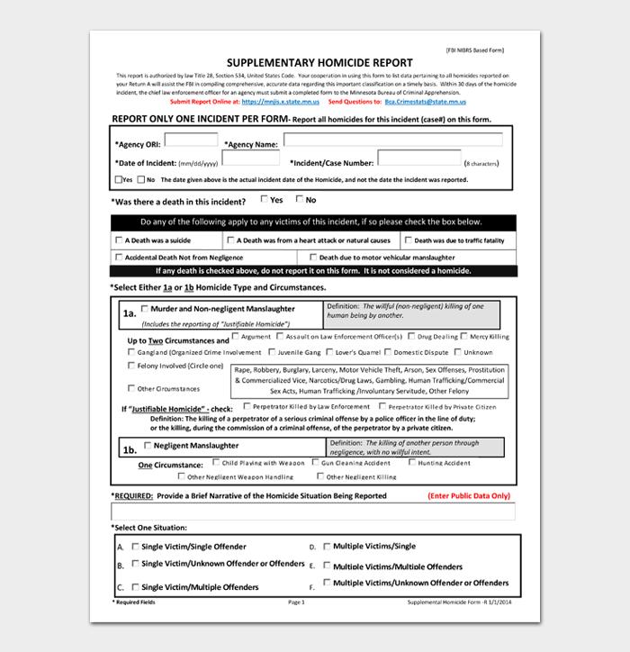 SUPPLEMENTARY HOMICIDE REPORT