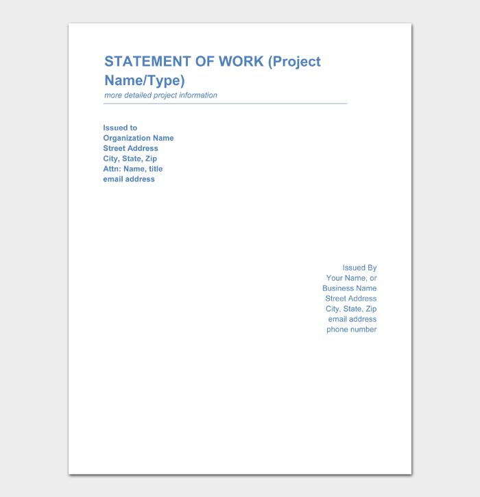 Statement of Work Templates #04