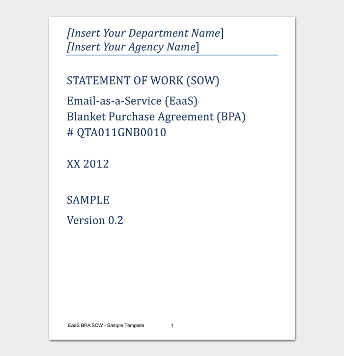 Statement of Work Templates #06