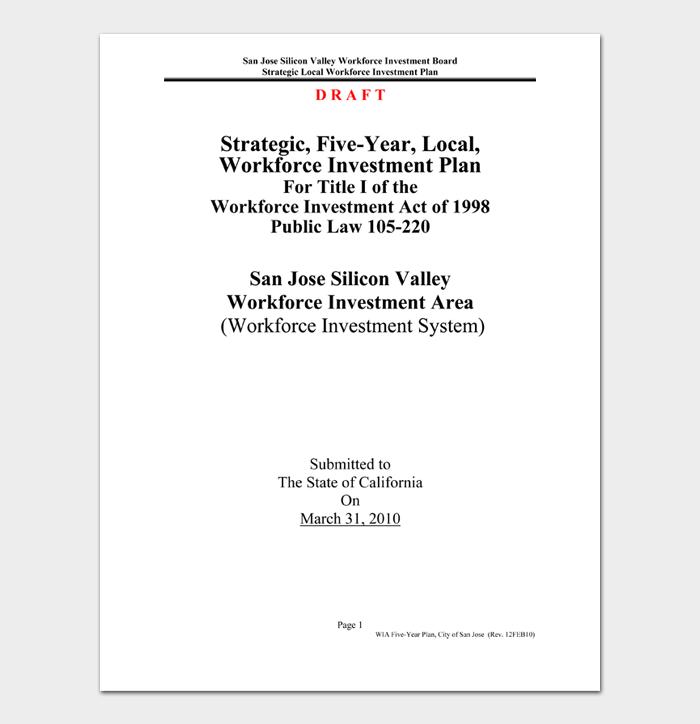 Strategic, Five Year, Local