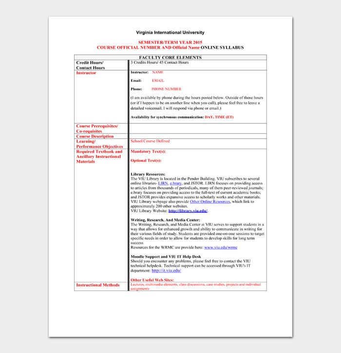 Syllabus Template #06