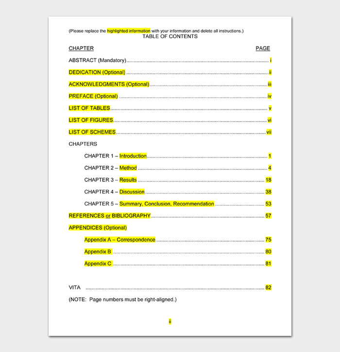 Table of Contents Templates #09