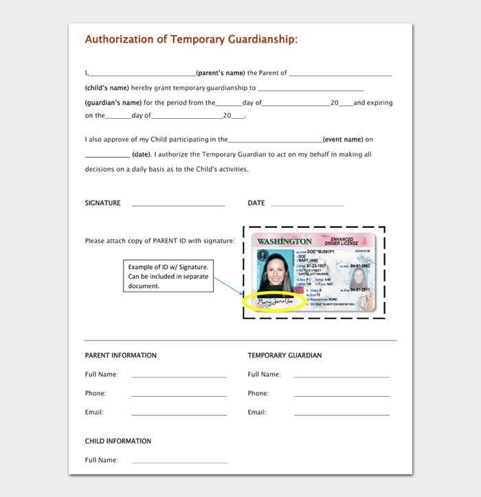 Temporary Guardianship Form #05