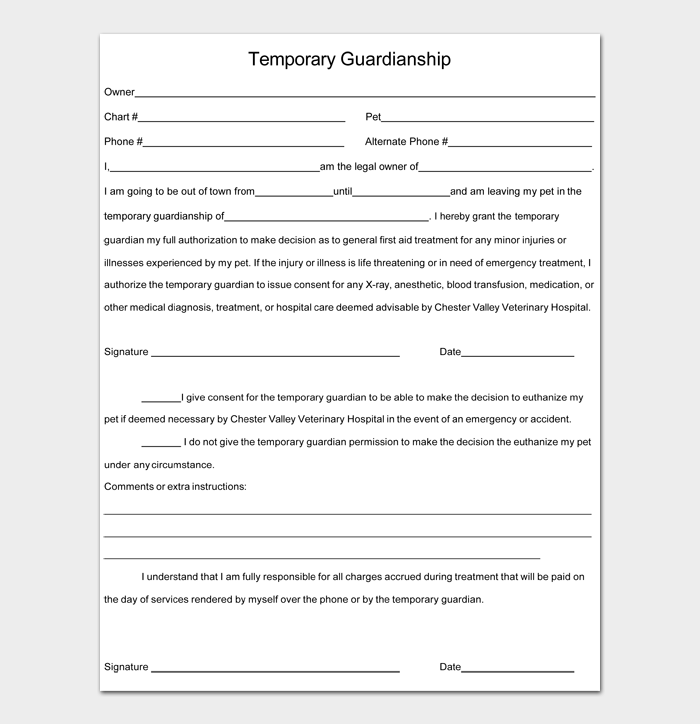 Temporary Guardianship