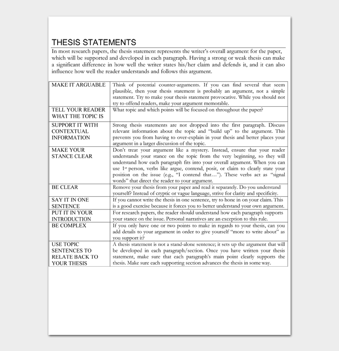 Thesis Statement Template #04