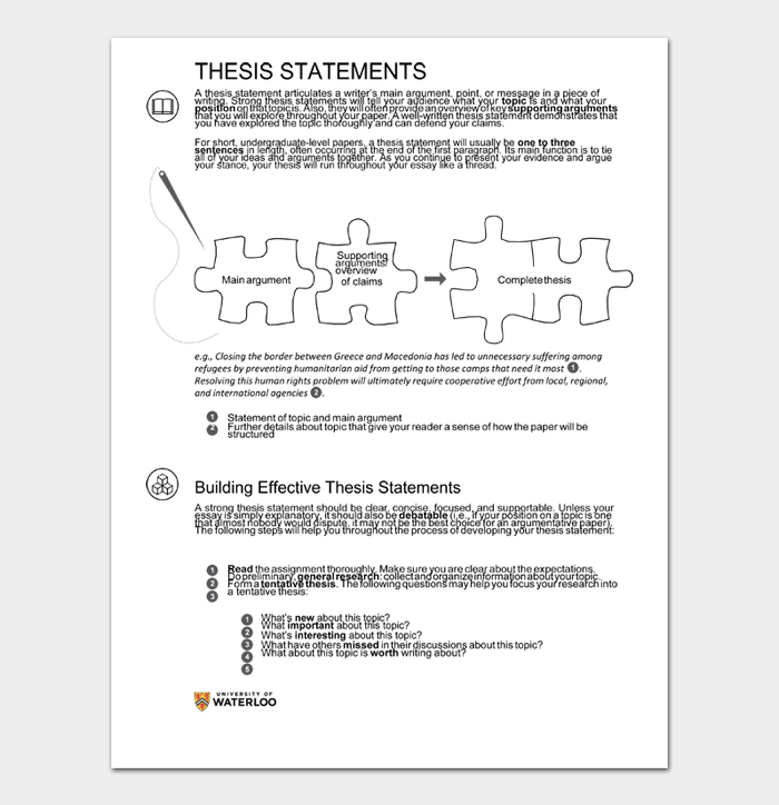 Thesis Statement Template #06