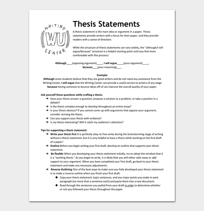 Thesis Statement Template #08