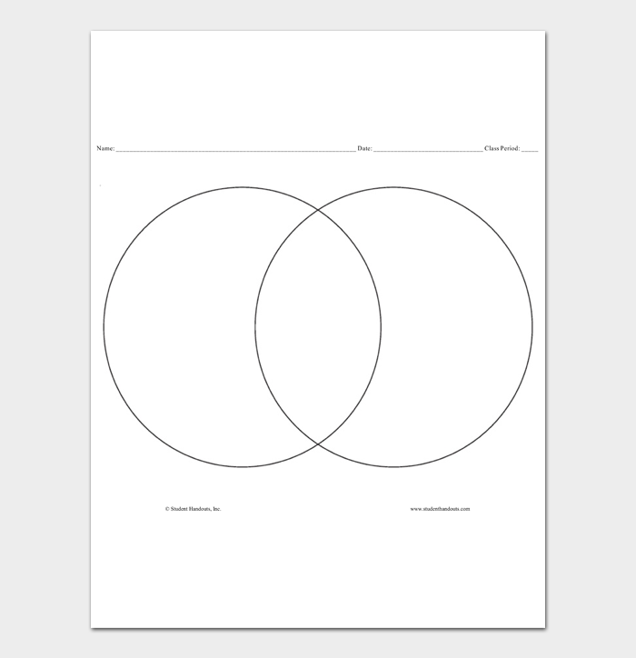 Venn Diagram Template #03