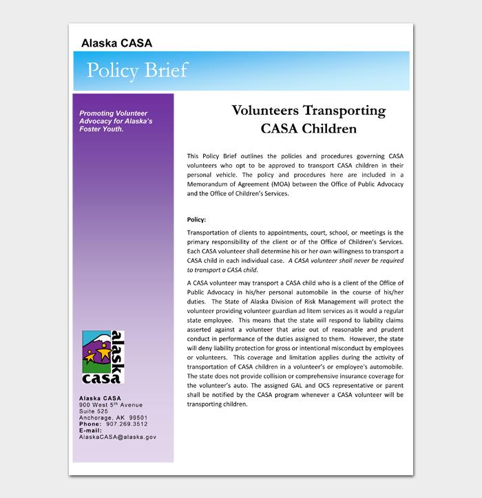 Volunteers Transporting CASA Children