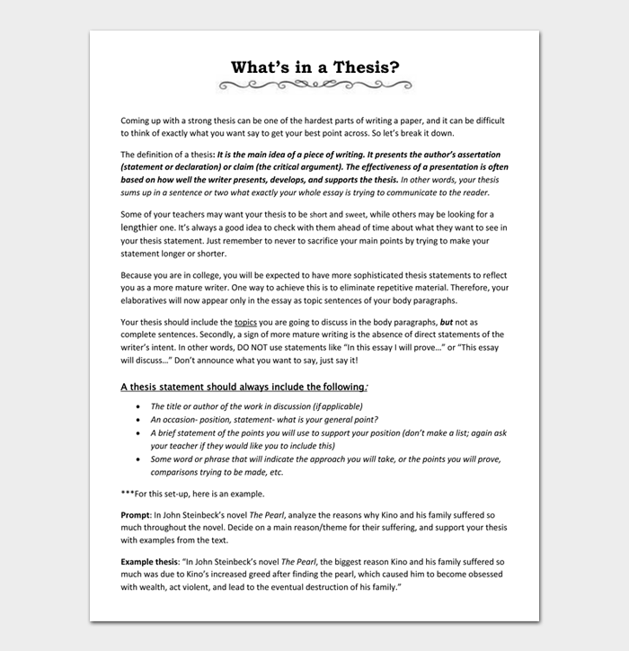 What's in a Thesis