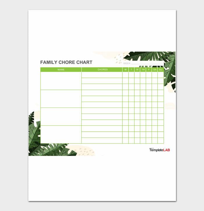 06 Family Chore Chart