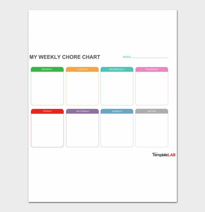 12 Adult Chore Chart