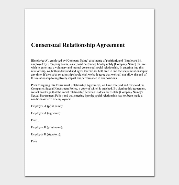 12 relationship contract