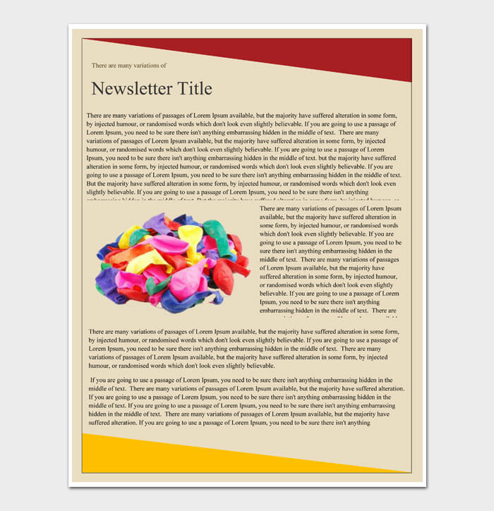 13 Newsletter Template