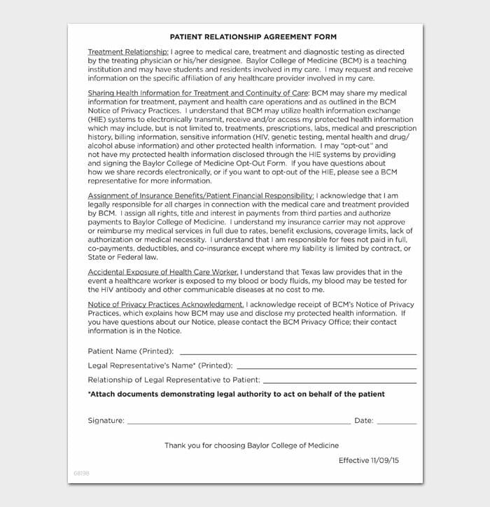 16 relationship contract