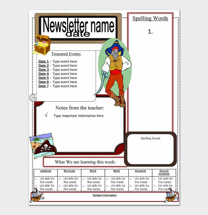 19 Newsletter Template