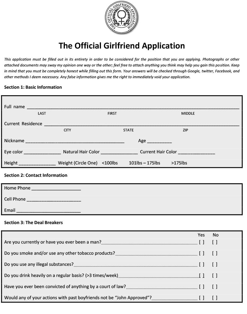 Girlfriend Application 20210831
