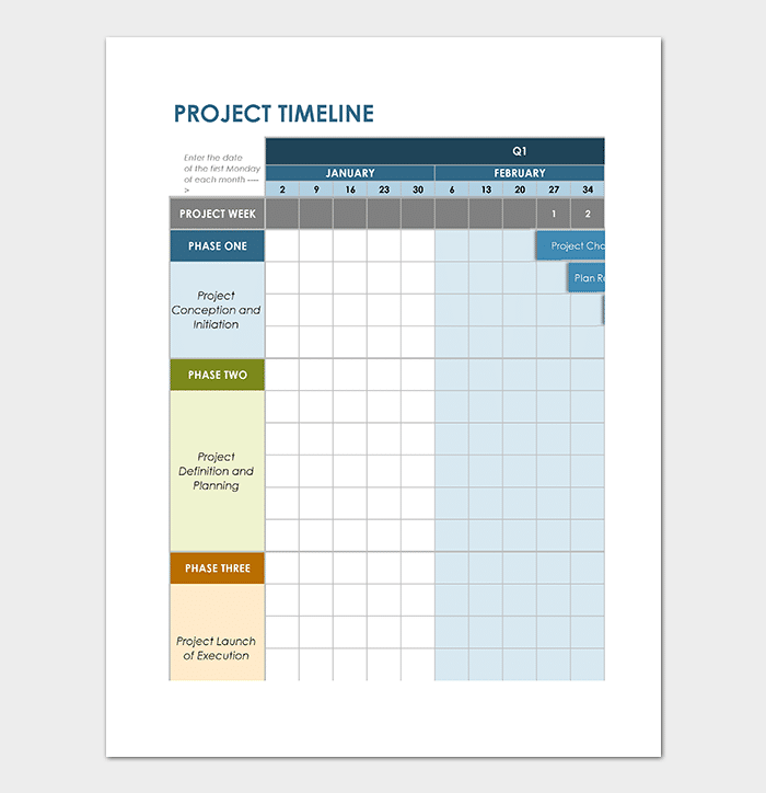 Business Timeline Template For Word PowerPoint PDF Excel - Project timeline template excel
